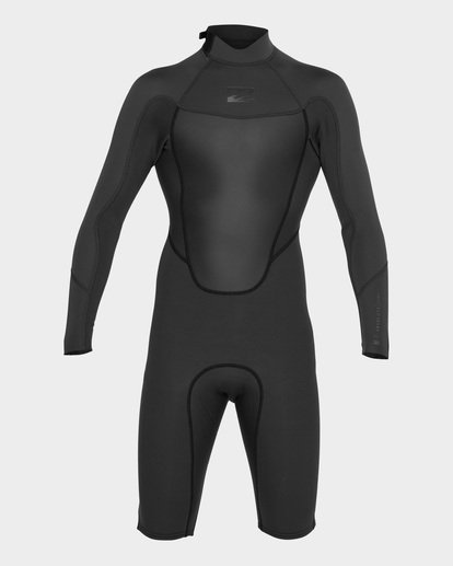 1 ABSOLUTE 202 BACK ZIP SPRING SUIT Black 9781521 Billabong