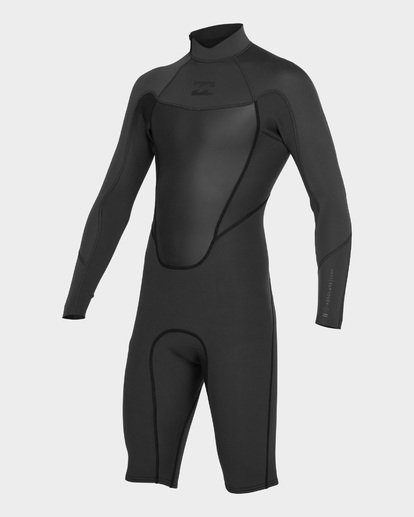 0 ABSOLUTE 202 BACK ZIP SPRING SUIT Black 9781521 Billabong