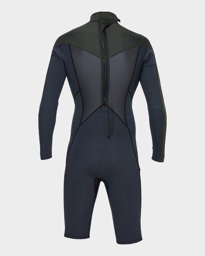 2 Absolute 202 Back Zip Spring Suit Green 9781521 Billabong