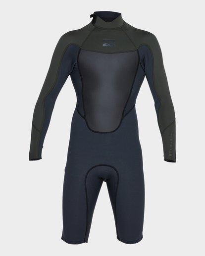 1 Absolute 202 Back Zip Spring Suit Green 9781521 Billabong