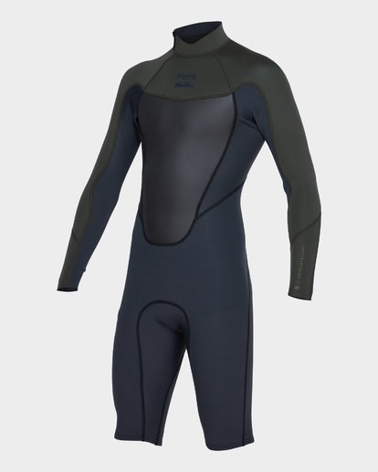 0 Absolute 202 Back Zip Spring Suit Green 9781521 Billabong