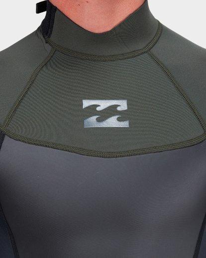 3 Absolute 202 Back Zip Spring Suit Green 9781521 Billabong