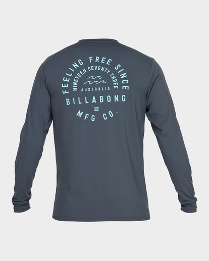 2 TRIPLE THREAT LONG SLEEVE RASH VEST Grey 9782004 Billabong