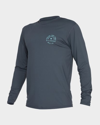 1 TRIPLE THREAT LONG SLEEVE RASH VEST Grey 9782004 Billabong