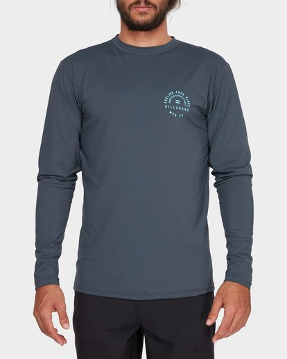 3 TRIPLE THREAT LONG SLEEVE RASH VEST Grey 9782004 Billabong
