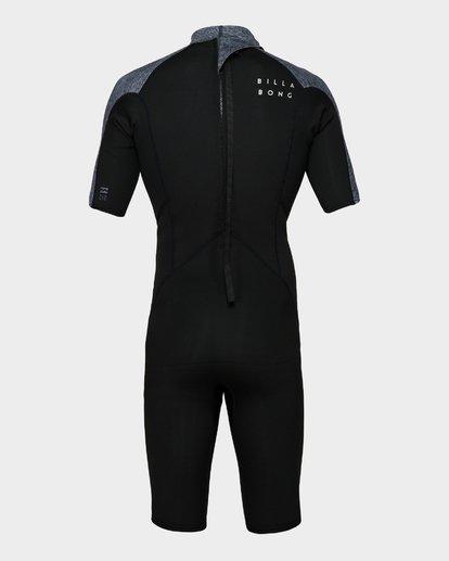 2 202 Absolute Fl Back Zip Short Sleeve Springsuit Grey 9791400 Billabong