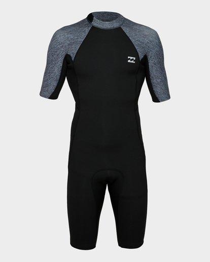 1 202 Absolute Fl Back Zip Short Sleeve Springsuit Grey 9791400 Billabong