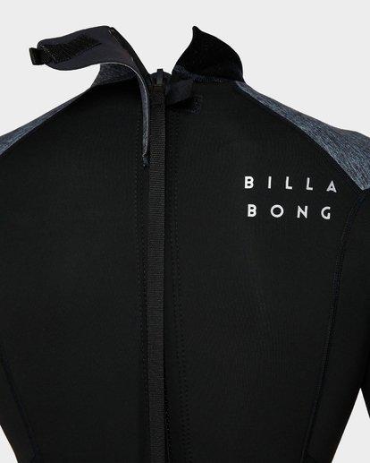 3 202 Absolute Fl Back Zip Short Sleeve Springsuit Grey 9791400 Billabong