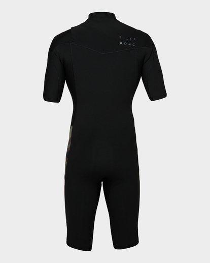 2 202 Revolution Chest Zip Short Sleeve Gbs Springsuit Camo 9791420 Billabong