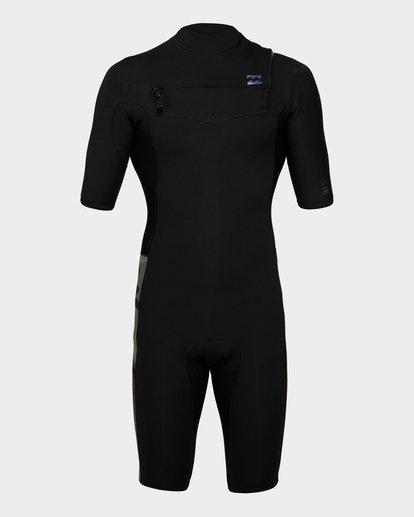1 202 Revolution Chest Zip Short Sleeve Gbs Springsuit Camo 9791420 Billabong