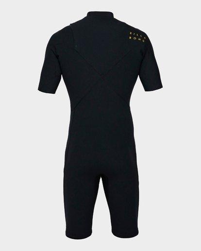 2 202 Pro Series Chest Zip Short Sleeve Springsuit Gbs Black 9791490 Billabong