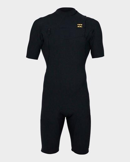 1 202 Pro Series Chest Zip Short Sleeve Springsuit Gbs Black 9791490 Billabong