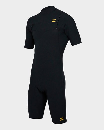 0 202 Pro Series Chest Zip Short Sleeve Springsuit Gbs Black 9791490 Billabong