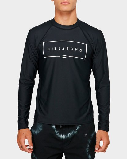 0 Union Long Sleeve Rash Vest Black 9791502 Billabong