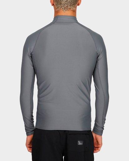 2 Union Long Sleeve Rash Vest Grey 9791502 Billabong