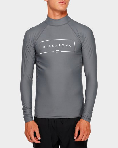 0 Union Long Sleeve Rash Vest Grey 9791502 Billabong
