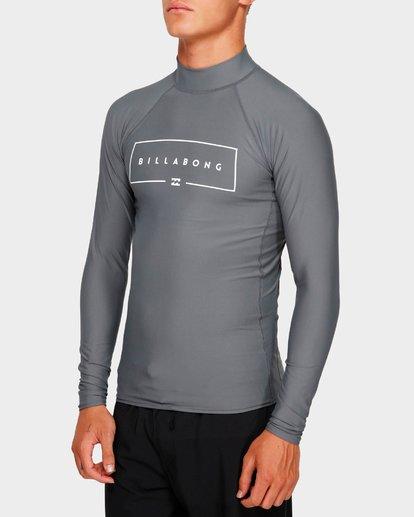 1 Union Long Sleeve Rash Vest Grey 9791502 Billabong