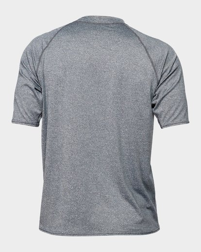 2 Union Rf Short Sleeve Rash Vest Grey 9791503 Billabong