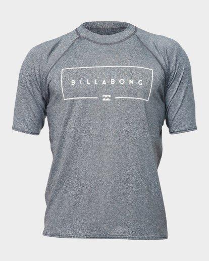 0 Union Rf Short Sleeve Rash Vest Grey 9791503 Billabong