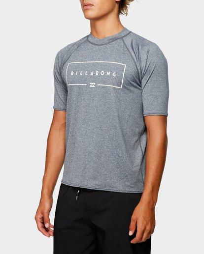 1 Union Rf Short Sleeve Rash Vest Grey 9791503 Billabong