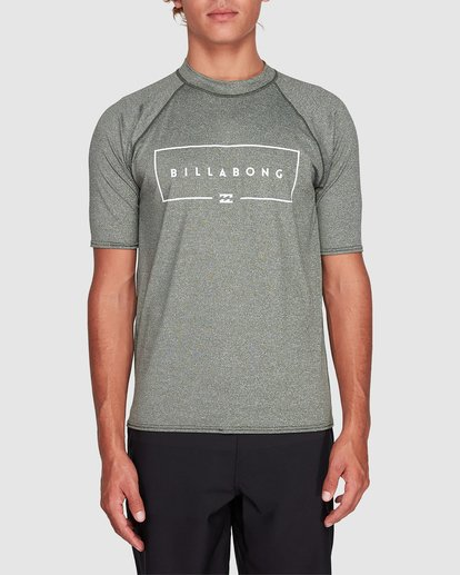 0 Union Relaxed Fit Short Sleeve Rashie Green 9791503 Billabong