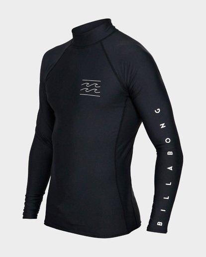 1 Unity Pf Long Sleeve Rash Vest Black 9791504 Billabong