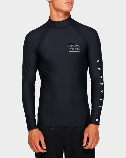 3 Unity Pf Long Sleeve Rash Vest Black 9791504 Billabong