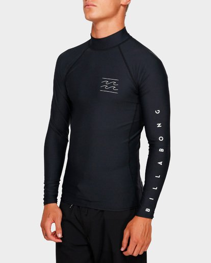 4 Unity Pf Long Sleeve Rash Vest Black 9791504 Billabong