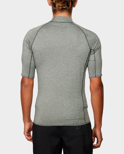 2 Unity Pf Short Sleeve Rash Vest Green 9791505 Billabong