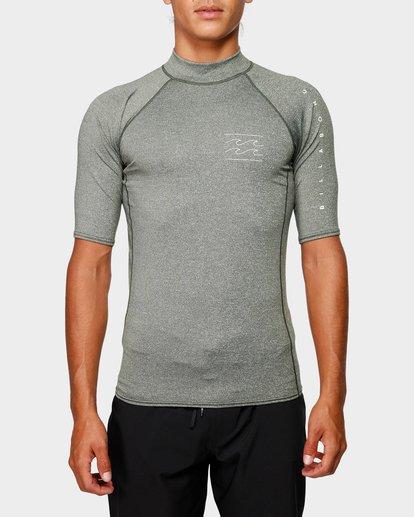 0 Unity Pf Short Sleeve Rash Vest Green 9791505 Billabong