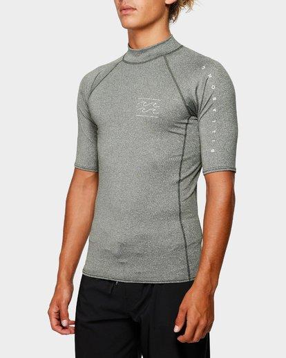 1 Unity Pf Short Sleeve Rash Vest Green 9791505 Billabong