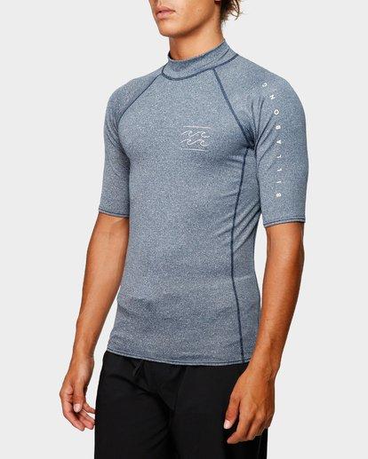 1 Unity Pf Short Sleeve Rash Vest Blue 9791505 Billabong