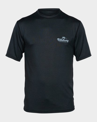 0 BEACH SCRIPT SHORT SLEEVE RASH VEST Black 9791506 Billabong