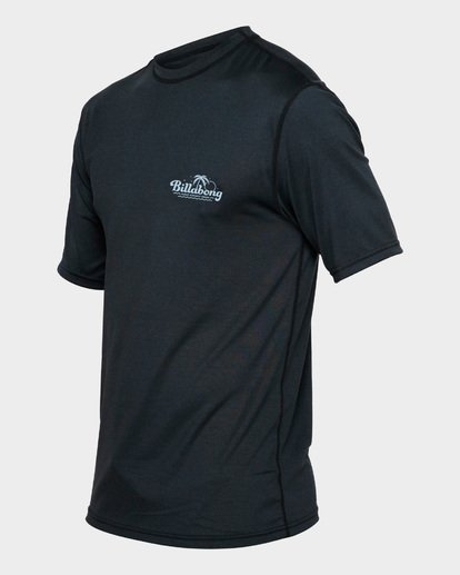 1 BEACH SCRIPT SHORT SLEEVE RASH VEST Black 9791506 Billabong