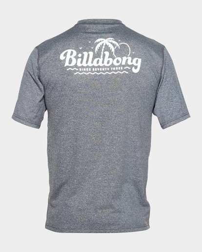 2 BEACH SCRIPT SHORT SLEEVE RASH VEST Grey 9791506 Billabong
