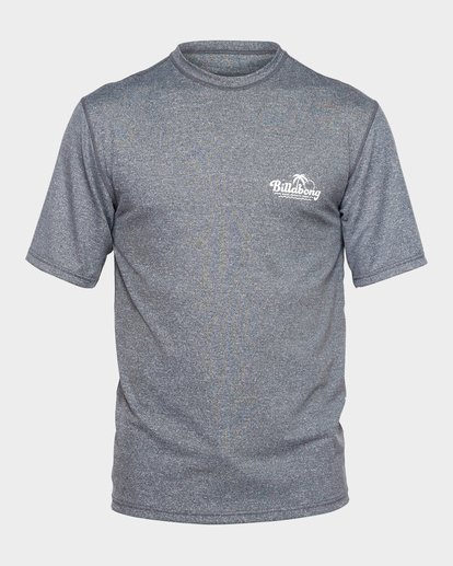 0 BEACH SCRIPT SHORT SLEEVE RASH VEST Grey 9791506 Billabong