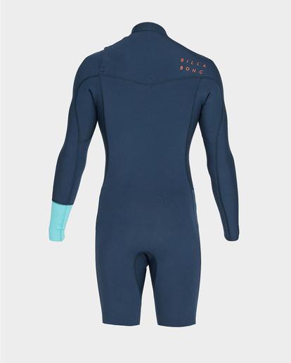2 202 Revolution Chest Zip Long Sleeve Gbs Springsuit Blue 9791520 Billabong