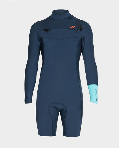 1 202 Revolution Chest Zip Long Sleeve Gbs Springsuit Blue 9791520 Billabong