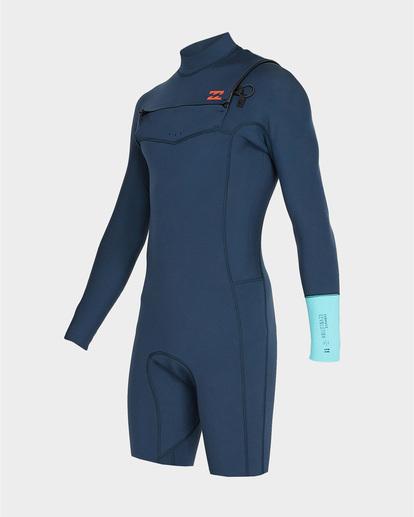 0 202 Revolution Chest Zip Long Sleeve Gbs Springsuit Blue 9791520 Billabong