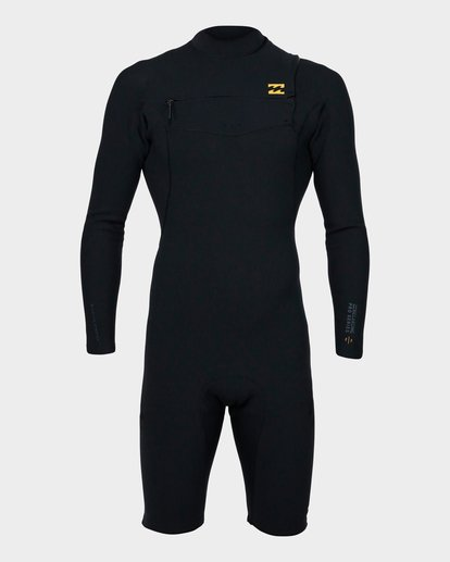 1 202 PRO SERIES CHEST ZIP LONG SLEEVE SPRINGSUIT GBS Black 9791590 Billabong