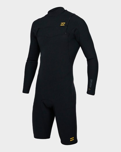 0 202 PRO SERIES CHEST ZIP LONG SLEEVE SPRINGSUIT GBS Black 9791590 Billabong