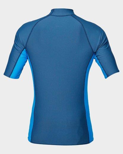 2 Diamond Pf Sidepanel Short Sleeve Rash Vest Blue 9792501 Billabong
