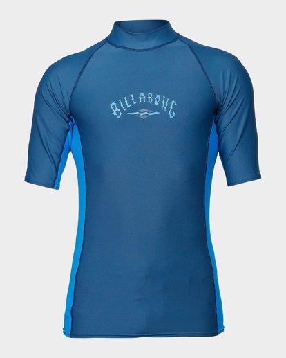 0 Diamond Pf Sidepanel Short Sleeve Rash Vest Blue 9792501 Billabong