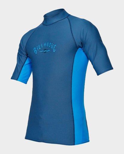 1 Diamond Pf Sidepanel Short Sleeve Rash Vest Blue 9792501 Billabong