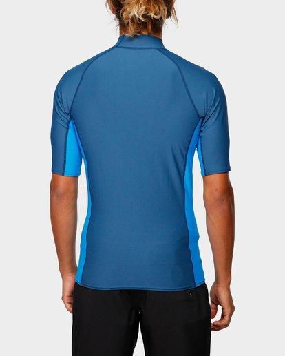 5 Diamond Pf Sidepanel Short Sleeve Rash Vest Blue 9792501 Billabong