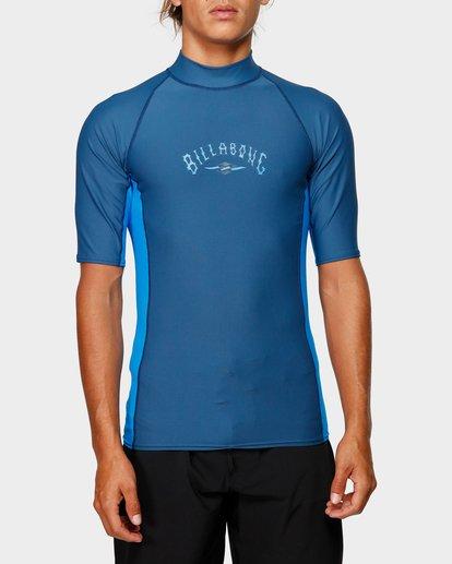3 Diamond Pf Sidepanel Short Sleeve Rash Vest Blue 9792501 Billabong