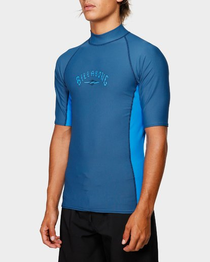 4 Diamond Pf Sidepanel Short Sleeve Rash Vest Blue 9792501 Billabong