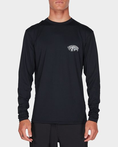 3 SPACE STORM LONG SLEEVE SURF SHIRT Black 9795001 Billabong