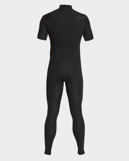 1 202 Furnace Absolute Short Sleeve Chest Zip Full Suit Black 9795618 Billabong