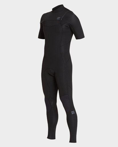 0 202 Furnace Absolute Short Sleeve Chest Zip Full Suit Black 9795618 Billabong